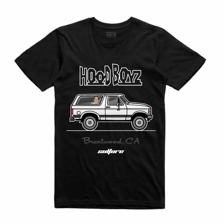 Streetwear on Demand CULTURE OJ CHASE HOOD BOYZ TEE BLACK