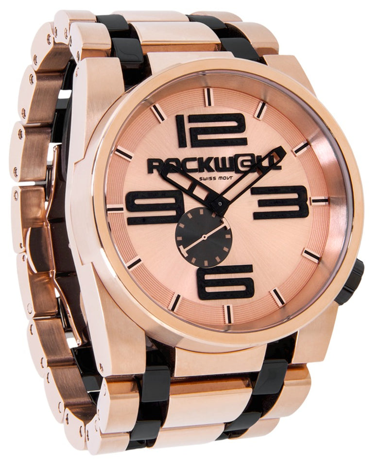 ROCKWELL THE 50mm WATCH ROSE GOLD BLACK CERAMIC