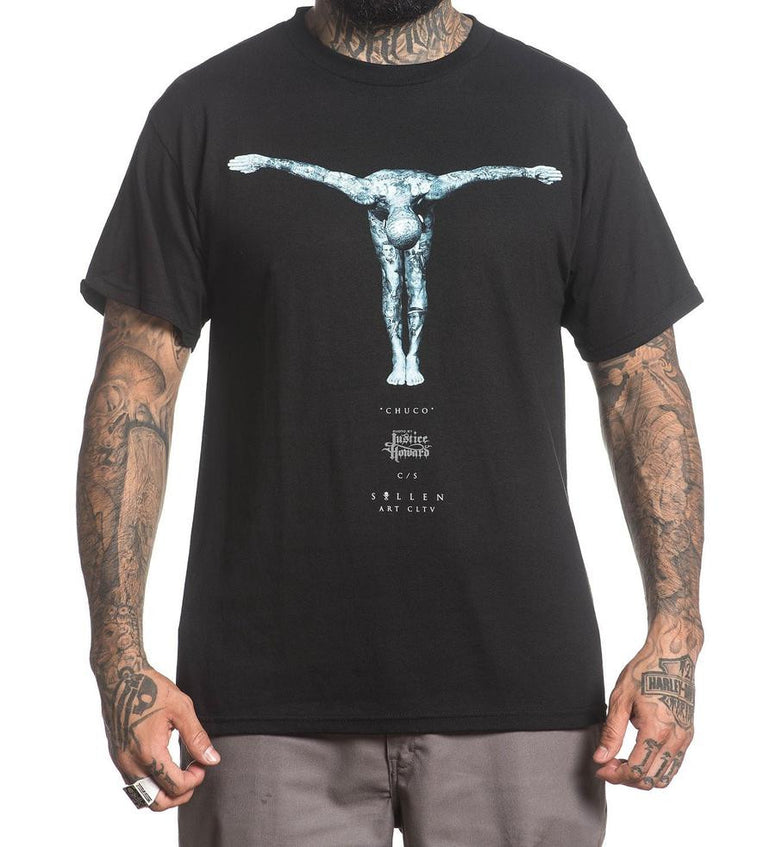 SULLEN JUSTICE HOWARD TEE SHIRT BLACK
