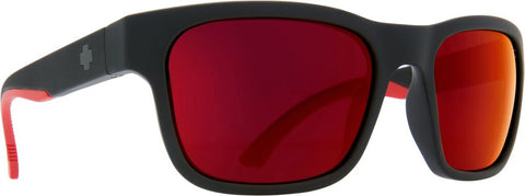 SPY OPTIC HUNT MATTE BLACK RED FADE SUNGLASSES