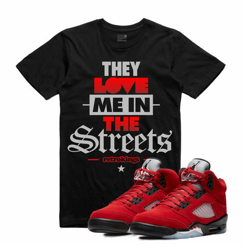Retro Kings AJ5 TORO BRAVO STREET LOVE TEE BLACK