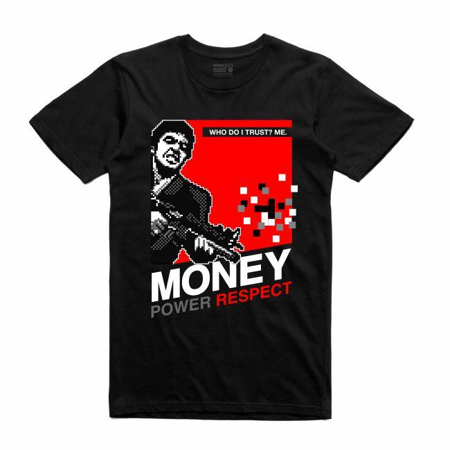 Streetwear on Demand 8 BIT SCARFACE TEE BLACK
