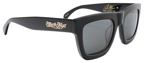 BLACK FLYS SCUMMY BANDITO SUNGLASSES SHINY BLACK SMOKE LENS