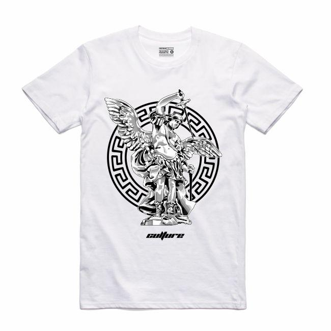 Streetwear on Demand CULTURE ST. MICHAEL TEE WHITE