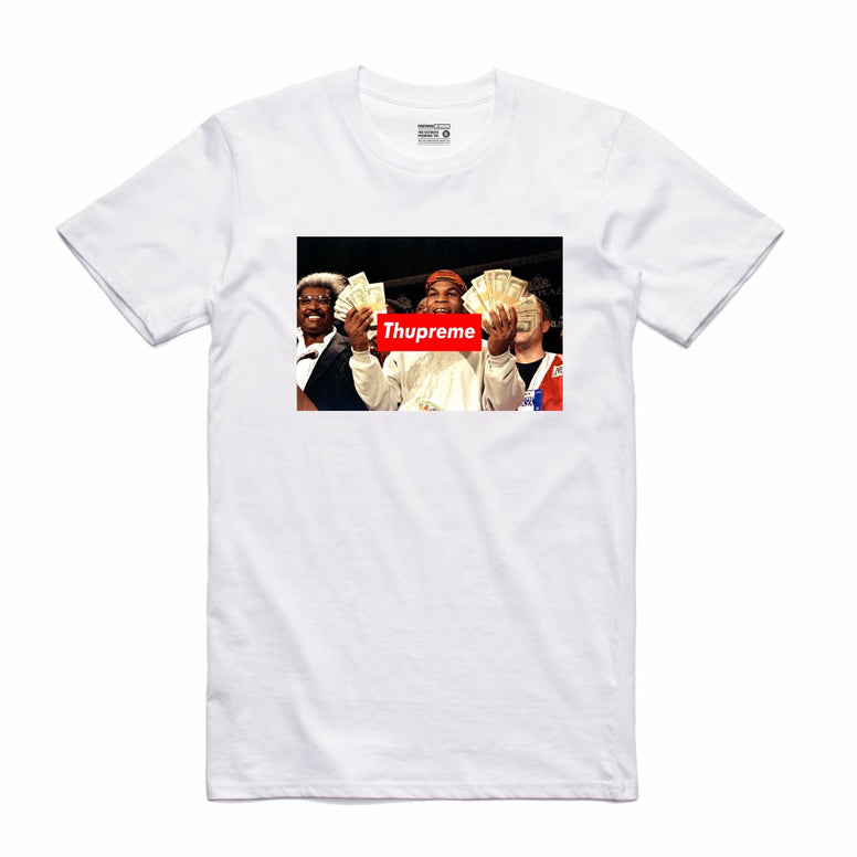 Streetwear on Demand THUPREME CASH TEE WHITE