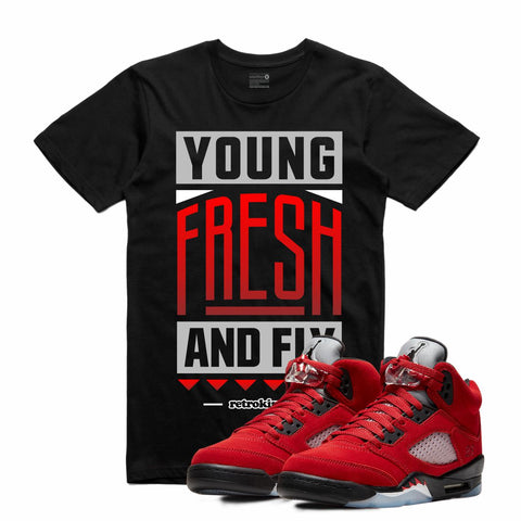 Retro Kings AJ5 TORO BRAVO YOUNG FRESH FLY TEE BLACK