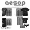 AESOP ORIGINALS CROSS MY HEART TEE SHIRT BLACK