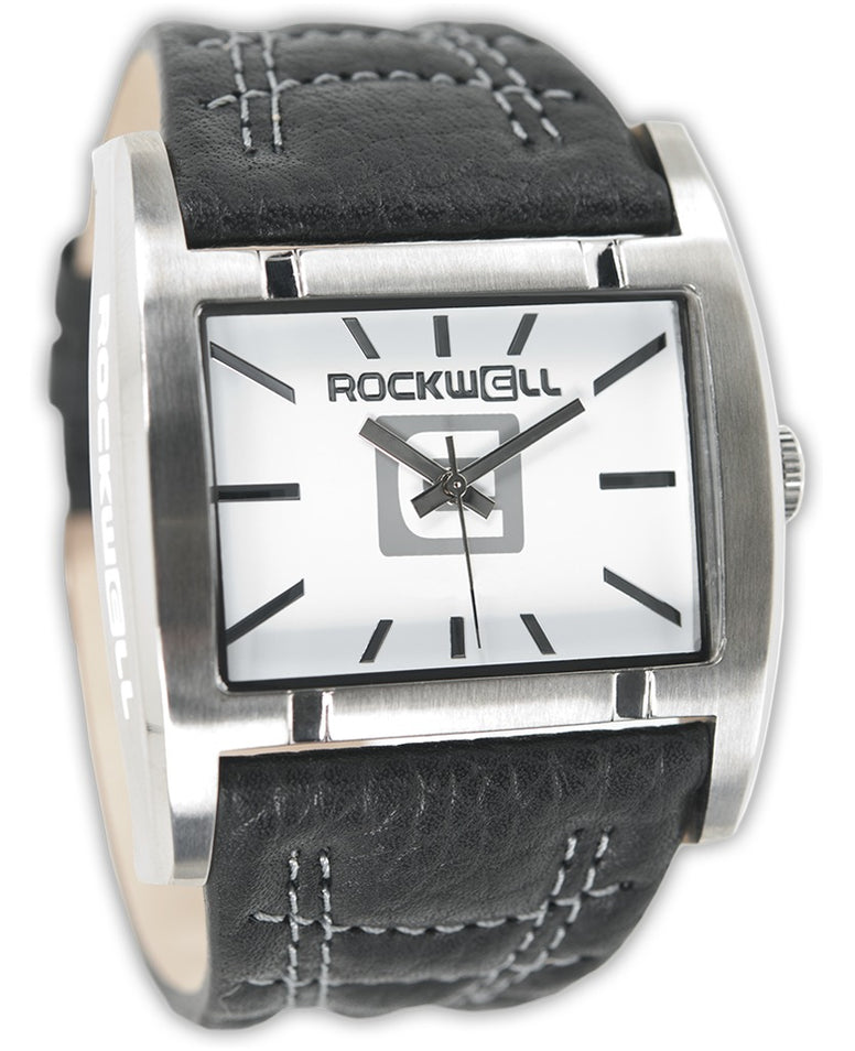 ROCKWELL THE APOSTLE WATCH BLACK/WHITE LEATHER