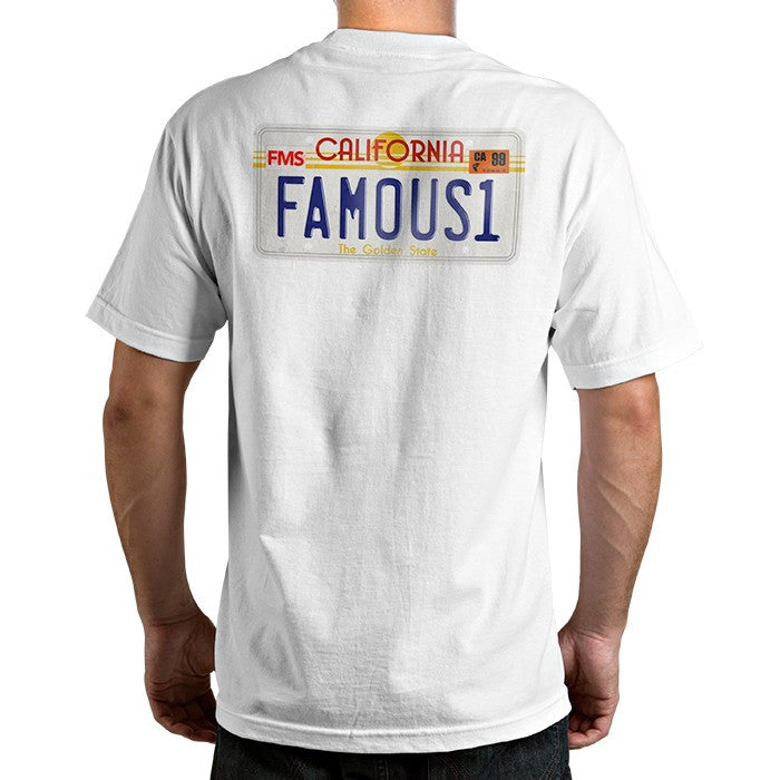 Famous Stars & Straps CALI PLATE 80's Tee Shirt