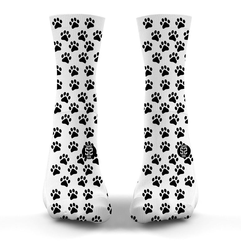 SAVVY SOX DOG PAW PRINTS SOCKS