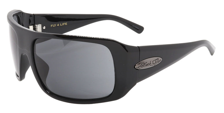 BLACK FLYS FLY 4 LIFE SUNGLASSES SHINY BLACK POLARIZED