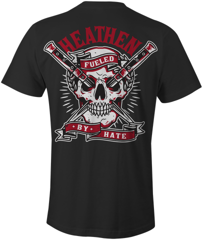 HEATHEN FUELED BY HATE TEE SHIRT BLACK
