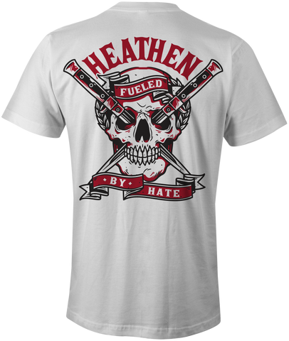 HEATHEN FUELED BY HATE TEE SHIRT WHITE