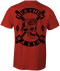 HEATHEN NATION TEE SHIRT RED