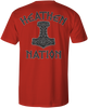 HEATHEN THOR TEE SHIRT RED