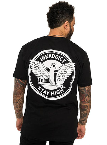 InkAddict STAY HIGH Unisex Tee