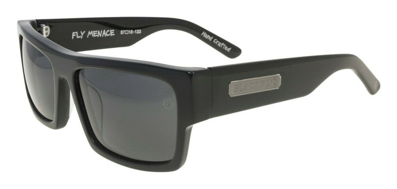 BLACK FLYS FLY MENACE SUNGLASSES SHINY BLACK POLARIZED