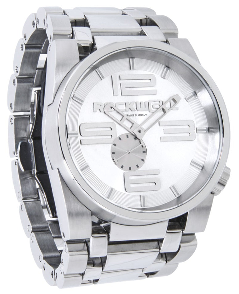 ROCKWELL THE 50mm WATCH SILVER WHITE