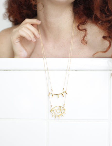 Eye necklace by studio baladi
