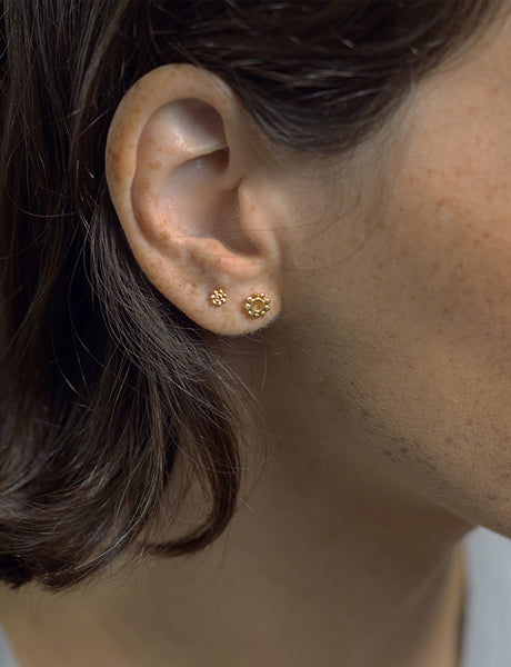 Hindi flower studs by studio baladi