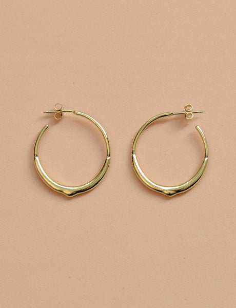 Drop hoop earrings gold by studio baladi