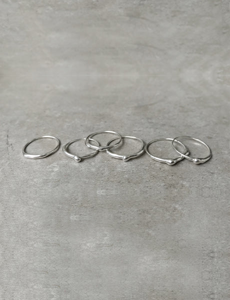 Mercury thin rings by studio baladi
