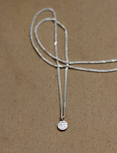 Signet dot necklace