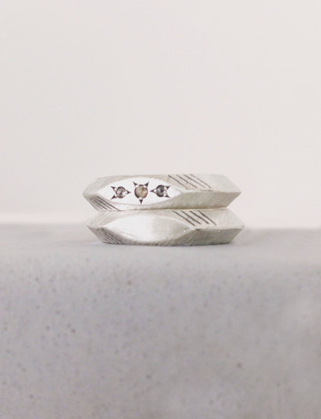Sterling silver and diamonds ring by studio baladi