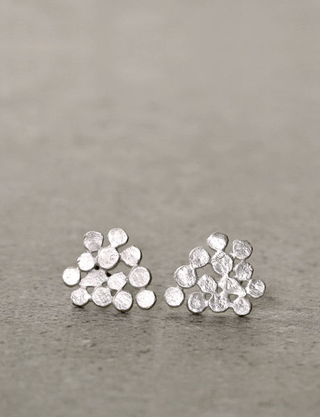 Sterling silver Cluster earrings by Studio Baladi