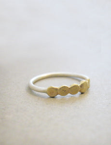 Silver ring & Brass dots
