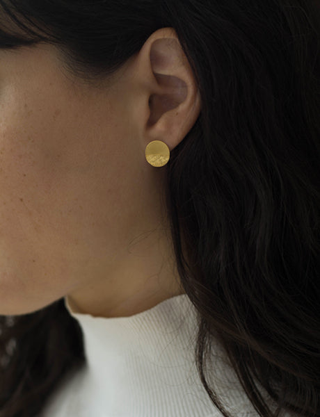 Disc earrings by Studio Baladi