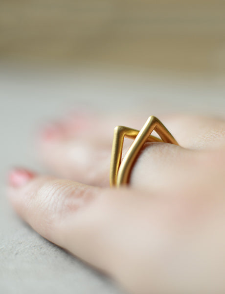 gold Drop ring by studio baladi