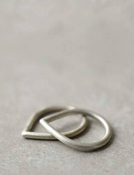 silver Drop ring by studio baladi