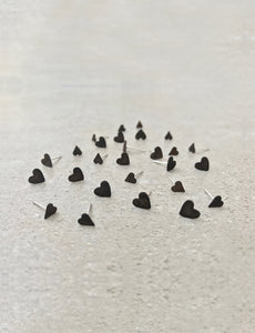 Minimalist heart stud earrings