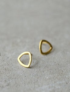 round triangle earrings