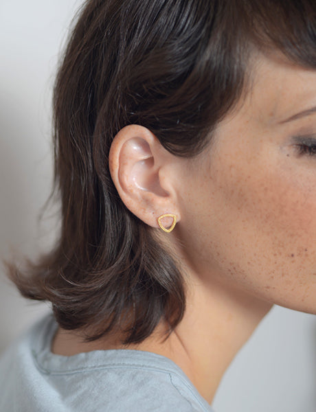 round triangle earrings by studio baladi