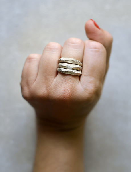 Faceted Stacking Rings by studio baladi