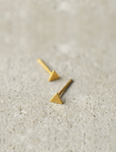 minimalist triangle stud earrings