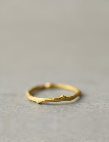 Twig wedding ring
