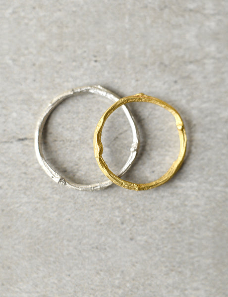 Twig wedding rings