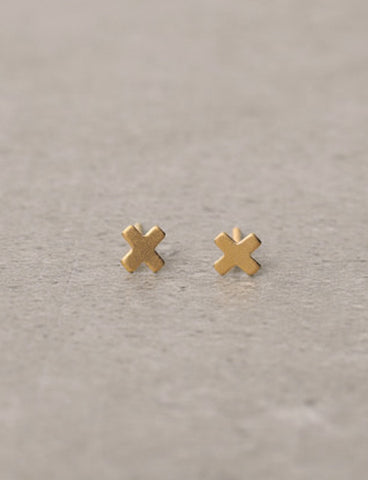 Tiny minimalist x earrings