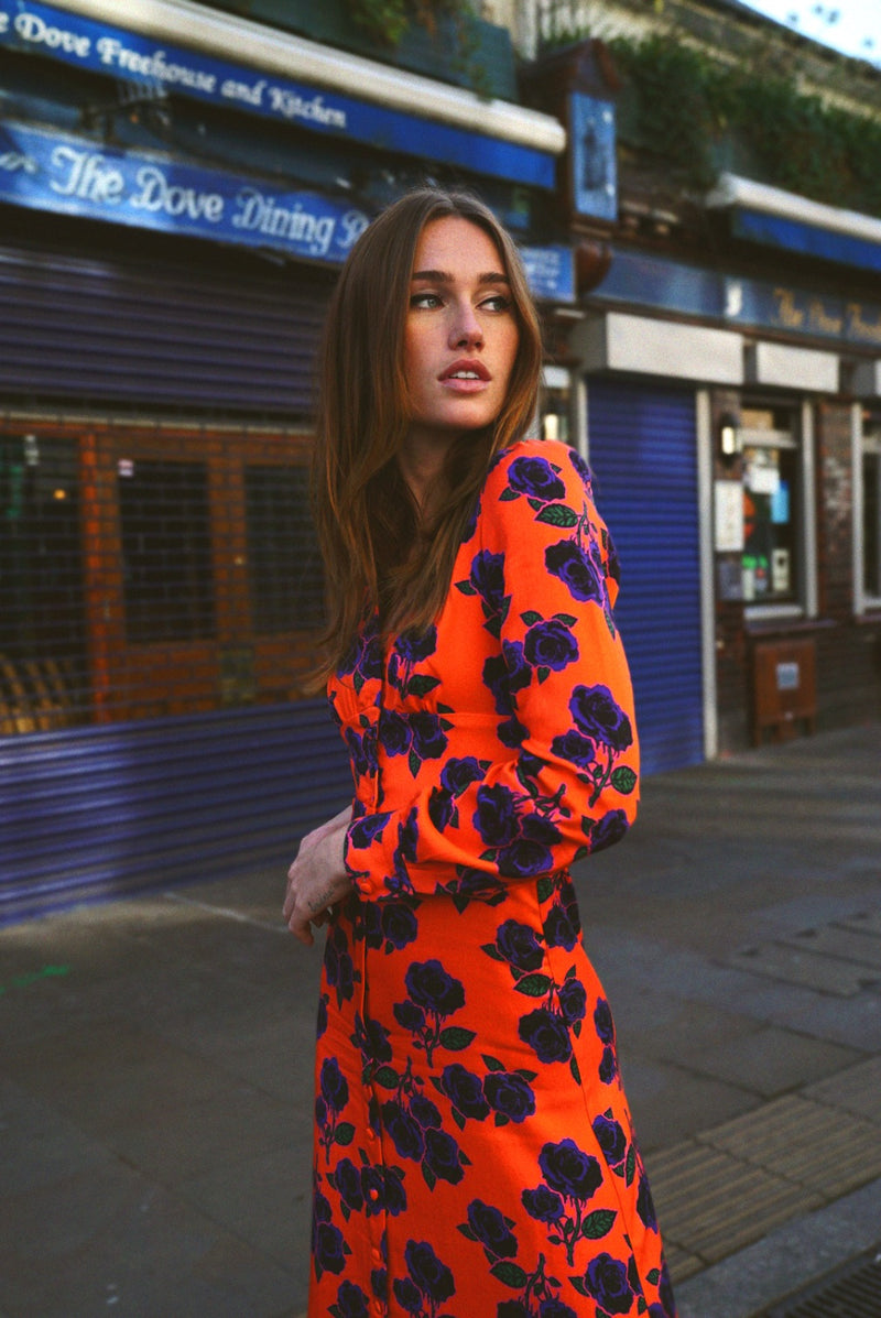 Orange Rose Dress