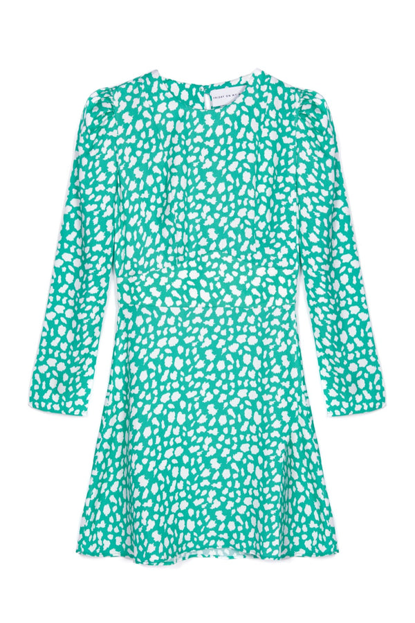 Green Leopard Mini Dress