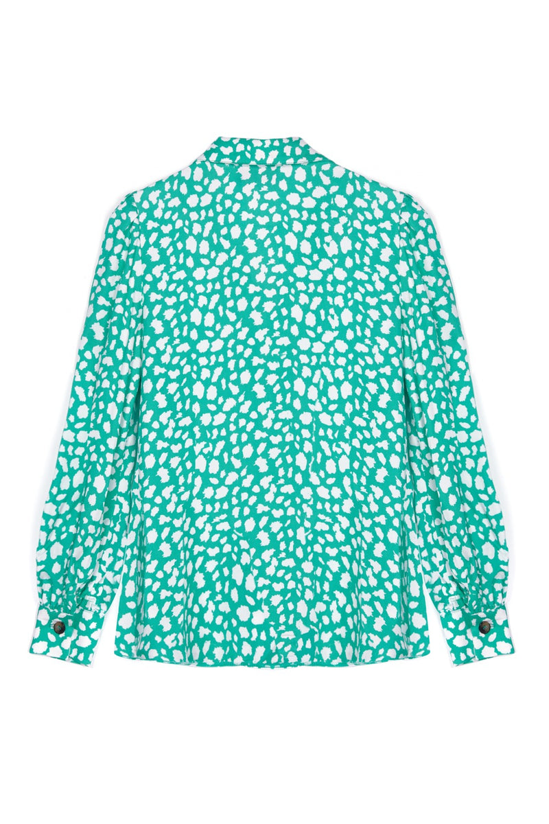 Green Leopard Blouse