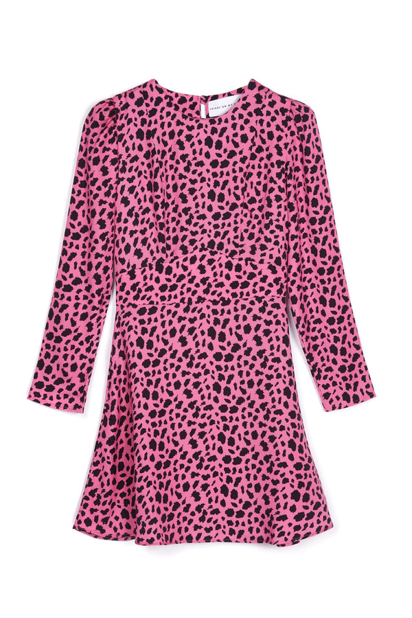Pink Leopard Mini Dress