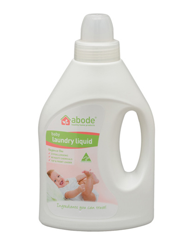 Abode Natural Baby Laundry Liquid – Fragrance Free 1L