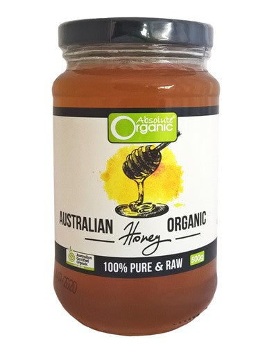 Absolute Organic Raw Australian Honey 500g
