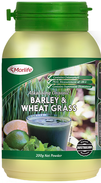 Morlife Barley & Wheat Grass Organic 200g