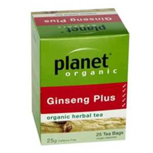 Planet Organic Ginseng Plus Tea - 25 tea bags