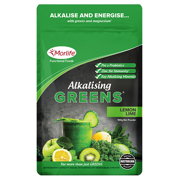 Morlife Alkalising Greens® - Lemon Lime 300g
